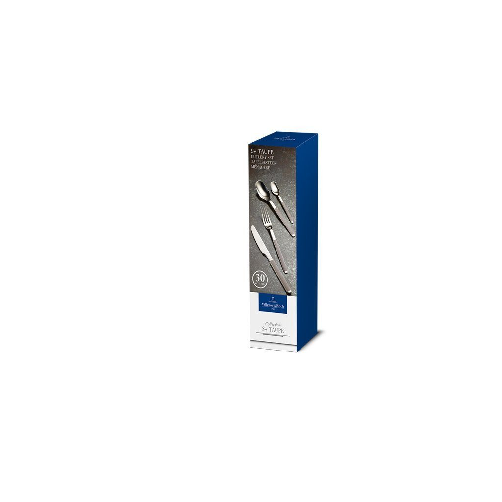 Villeroy & Boch Tafelbesteck 30tlg. 27x7,5x6,5cm »S+ Taupe«