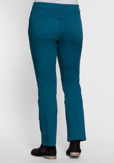 sheego Basic Anzughose, elastische Twill-Qualität