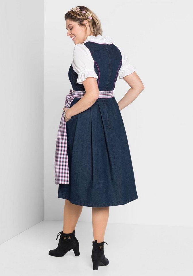 Damen sheego Style Dirndl blau   04054697922479
