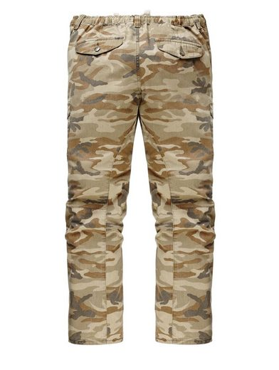 Men Plus by Happy Size Cargohose Camouflage