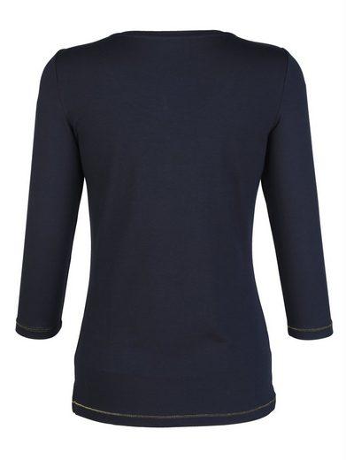 Alba Moda Shirt mit Paillettenmotiv