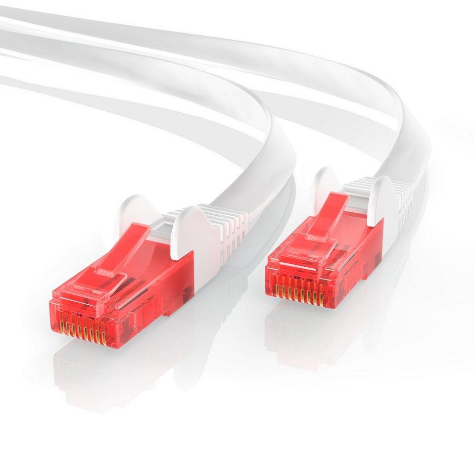 CSL Cat.6 Flachband Netzwerkkabel (RJ45) »mehrfach geschirmtes UTP ...