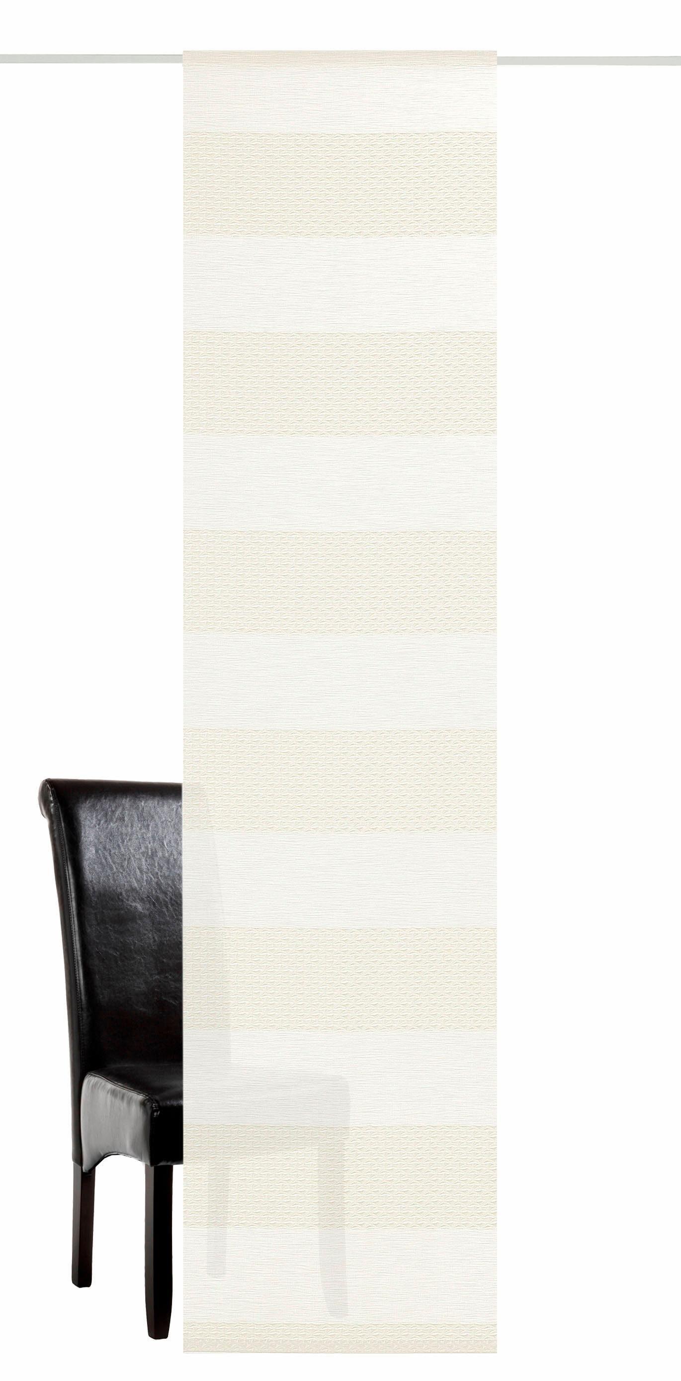 Schiebegardine »Tamara«, DEKO TRENDS, Klettband (1 Stück), inkl. Befestigungszubehör