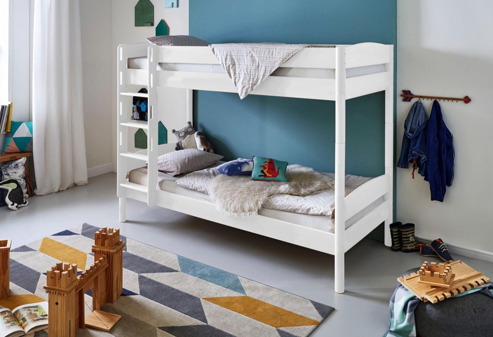 Etagenbett Kiefer Oder Buche : Kinderbett hochbett samuel buche vollholz massiv mit rutsche natur