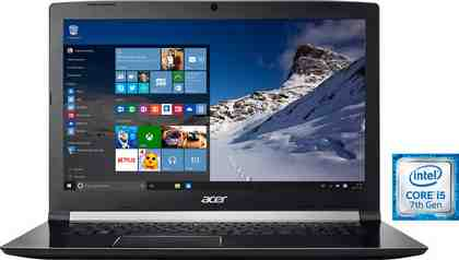 Acer Aspire 7 (A717-71G-599T) Notebook, Intel® Core™ i5, 43,9 cm (17,3 Zoll), 1256 GB Speicher