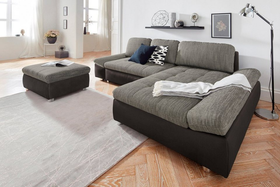 Sit more polsterecke fabona wahlweise mit bettfunktion for Couch mit bettfunktion und bettkasten