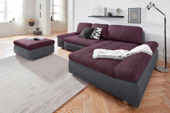 sit&more Ecksofa »Fabona«, wahlweise mit Bettfunktion, Bettkasten und Armteilfunktion