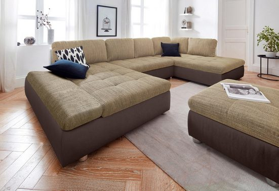 sit&more Wohnlandschaft »Fabona«, wahlweise mit Bettfunktion, Bettkasten und Armteilfunktion