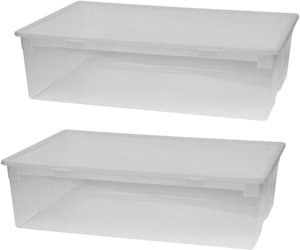 kreher aufbewahrungsbox 2er set aufbewahrungsboxen mit. Black Bedroom Furniture Sets. Home Design Ideas