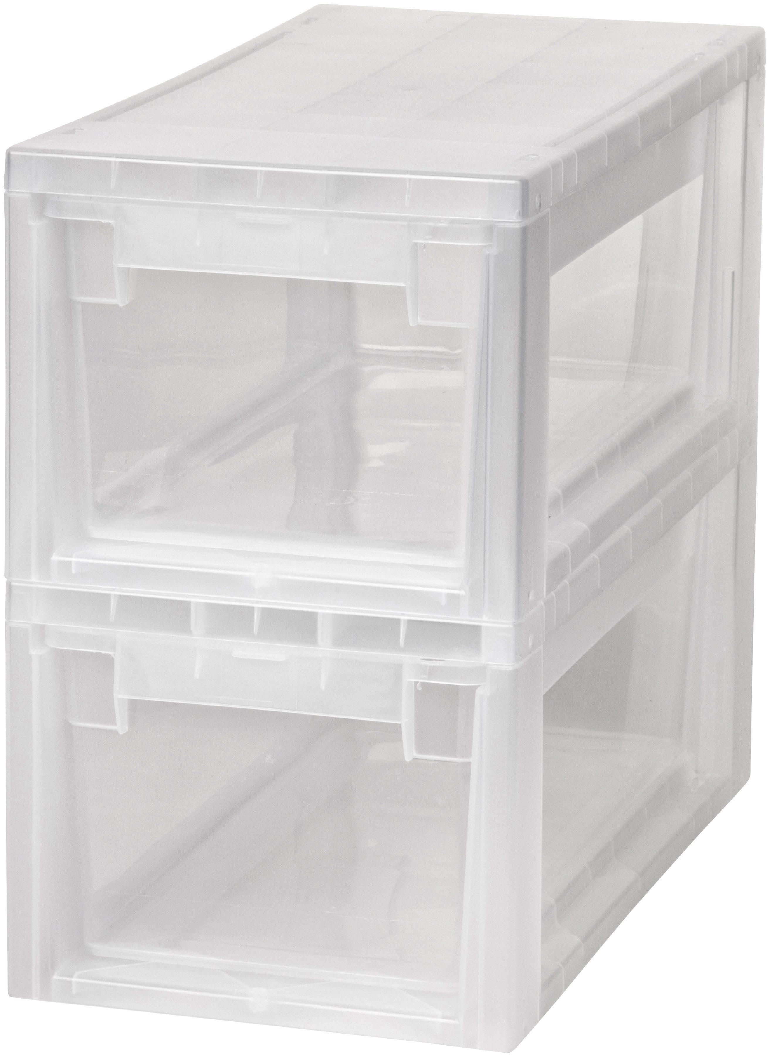 KREHER Aufbewahrungsbox »2x 7 Liter, mit Schubladen« 2er Set