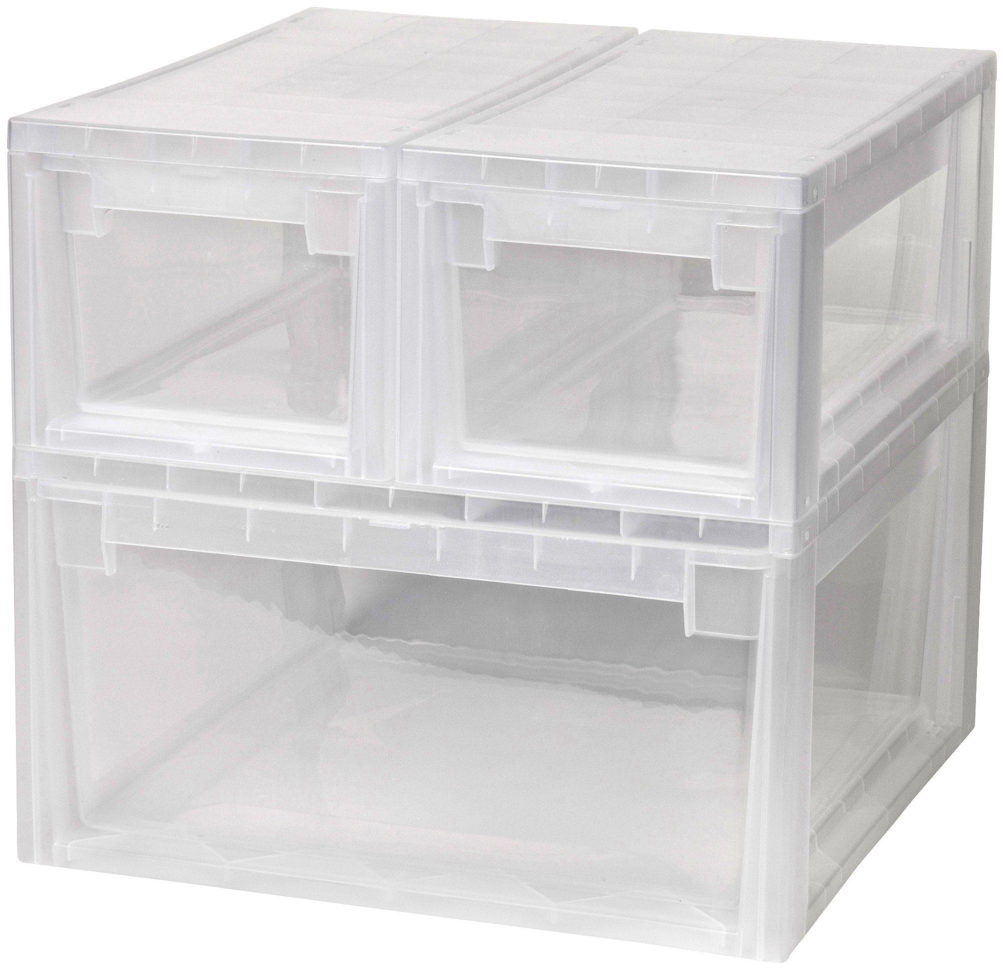 KREHER Aufbewahrungsbox »1x 23 Liter und 2x 7 Liter, mit Schubladen« 3er Set
