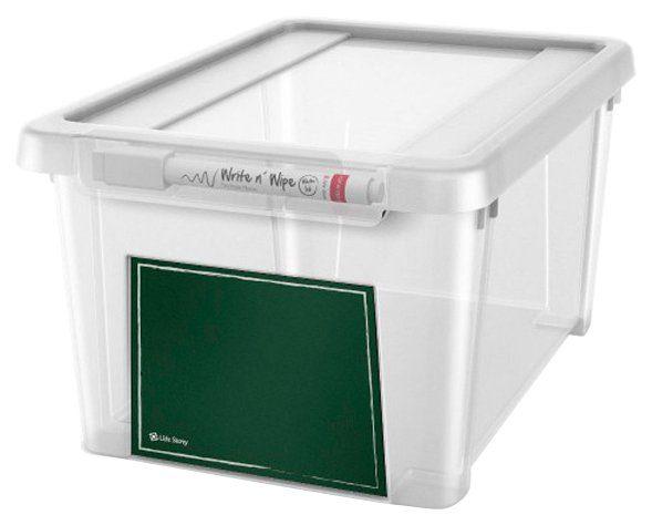 KREHER Aufbewahrungsbox »5 Liter, mit Deckel und beschreibbarem Feld«