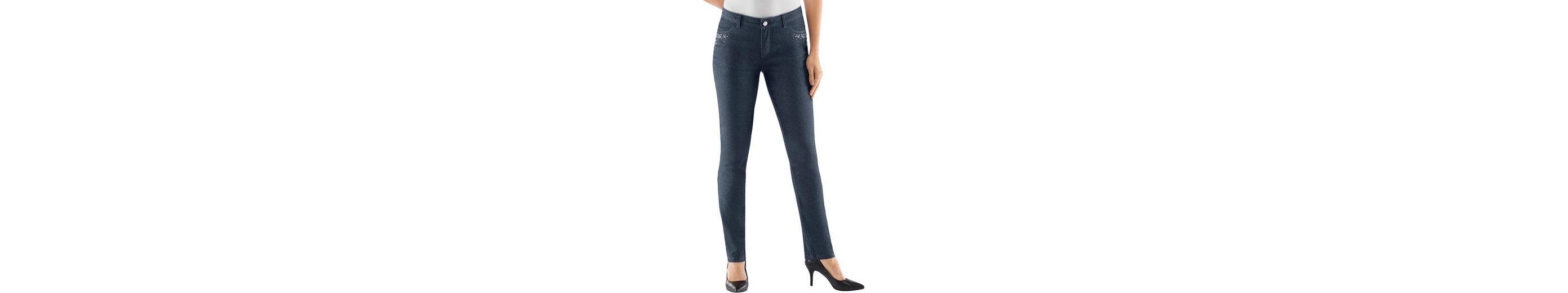 Lady Jeans mit aufgenähte Schmucksteinen Wählen Sie Eine Beste jKACbc94M
