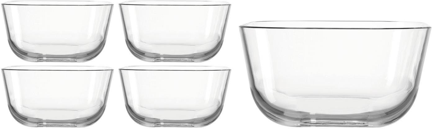 LEONARDO »GUSTO« Schale, Glas, (Set, 5 tlg), spülmaschinengeeignet