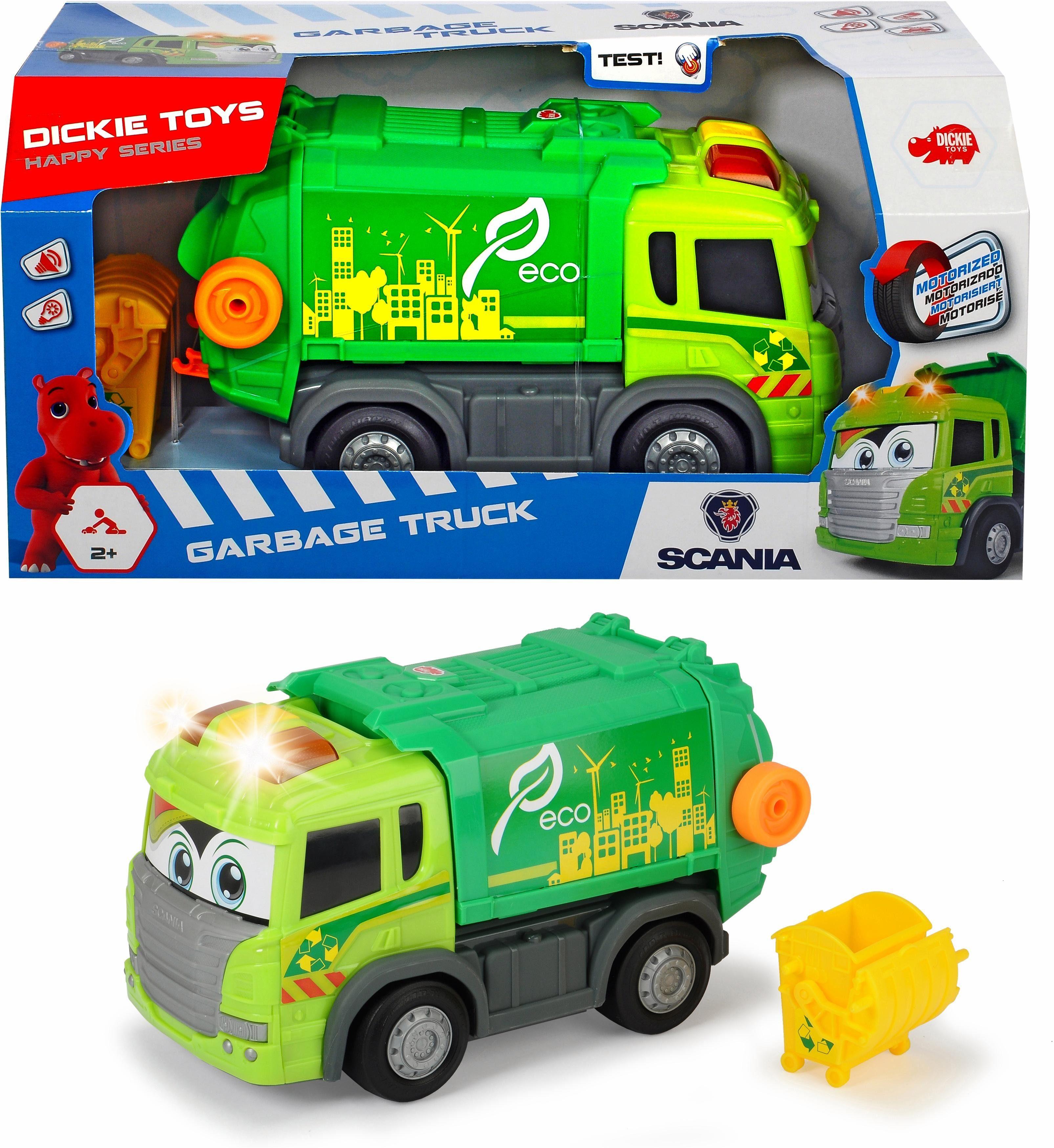 Dickie Toys Spielzeug Müllabfuhr LKW motorisiert, »Happy Scania Garbage Truck«