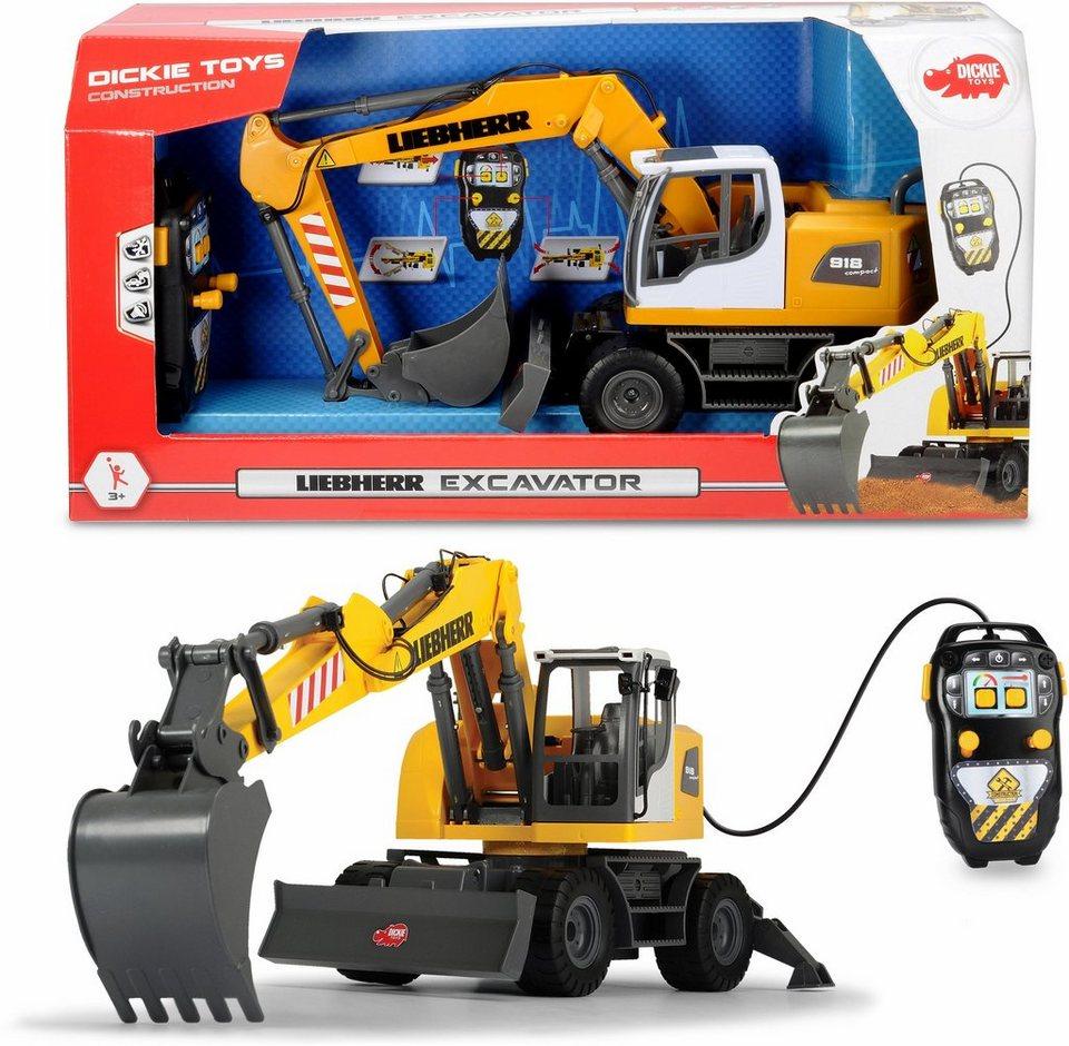 dickie toys spielzeug bagger motorisiert, »liebherr excavator