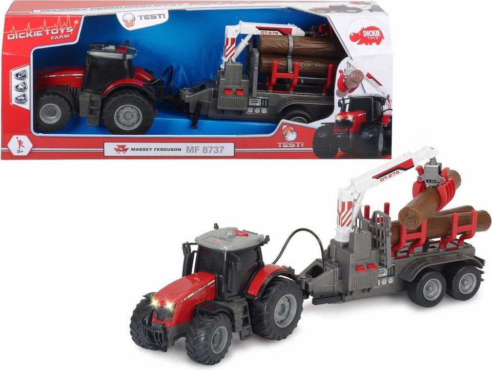dickie toys spielzeug traktor mit licht und sound massey