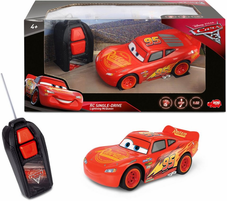 Dickie Toys RC Auto, »Disney Pixar Cars 3 Lightning McQueen Single ...