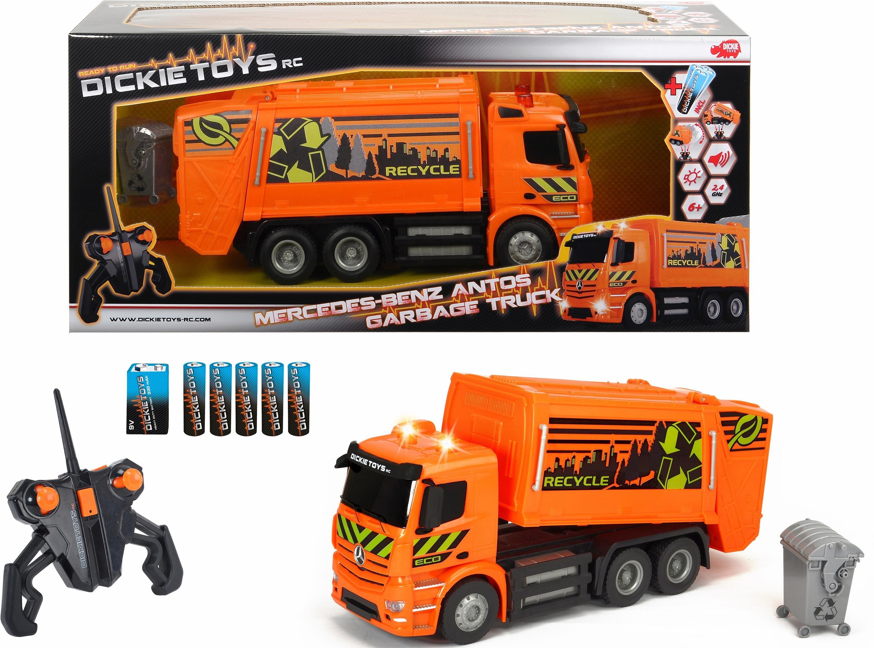 Dickie Toys RC LKW Komplettset mit Licht und Sound, »RC MB Antos Garbage Truck«