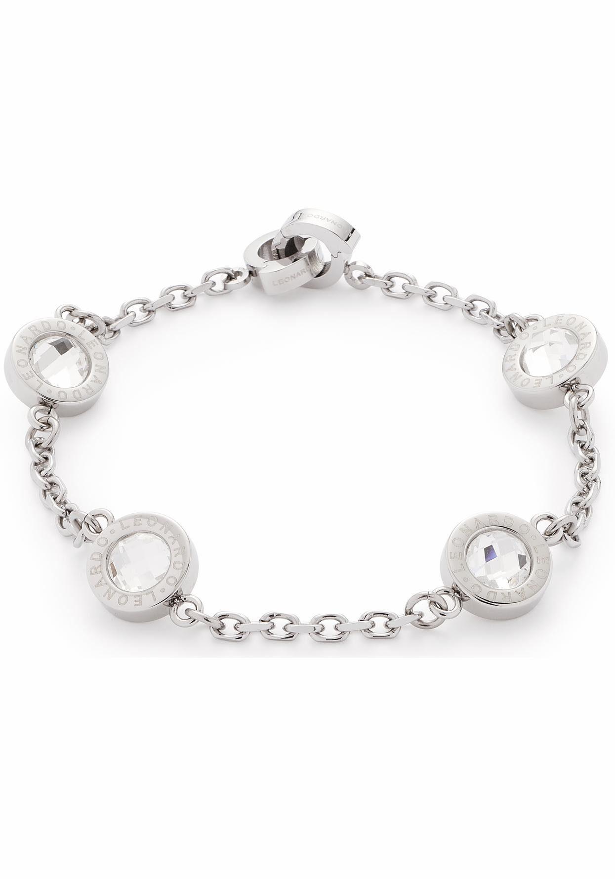 LEONARDO Armband »Matrix Darlin's, 016446« mit Glassteinen