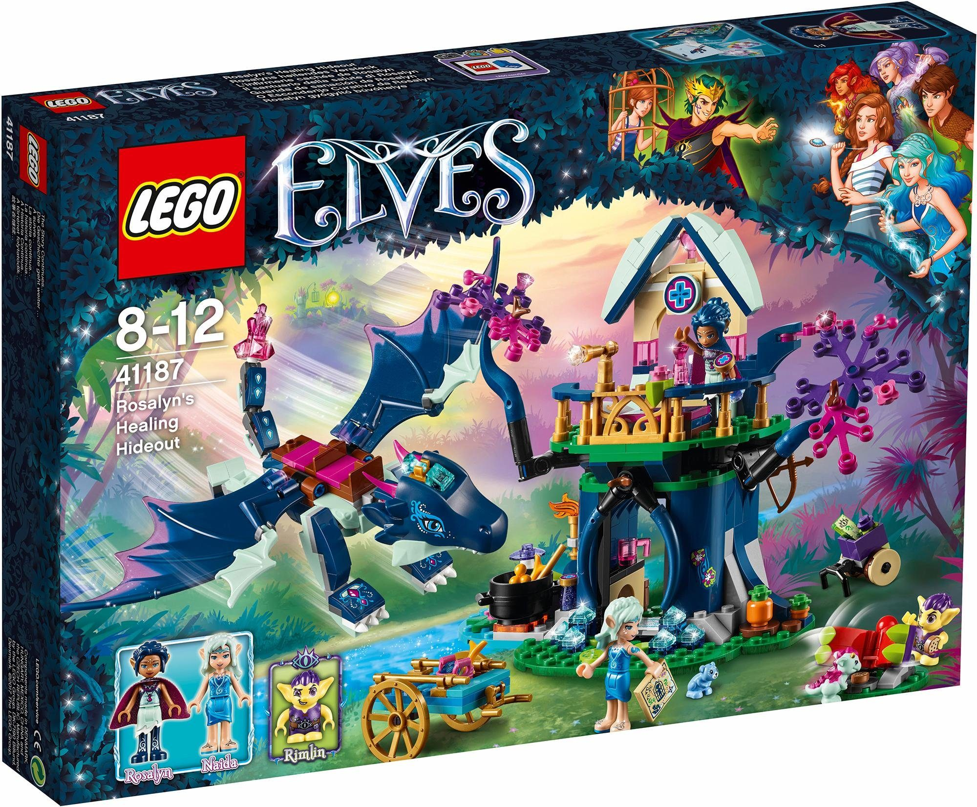 LEGO® Konstruktionsspielsteine »Rosalyns heilendes Versteck (41187), LEGO® Elves«, (460 tlg)