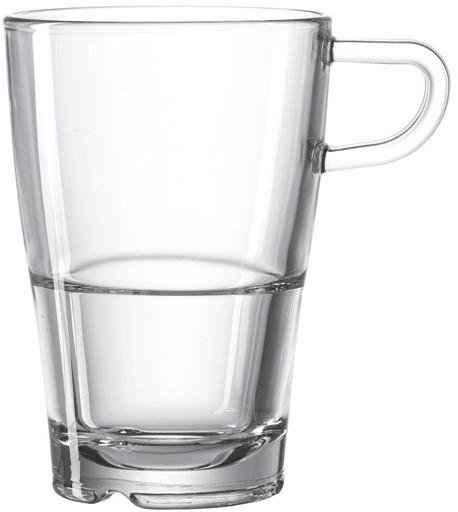 LEONARDO Latte-Macchiato-Glas »SENSO«, Glas, Hitzebeständig und widerstandsfähig, 6-teilig