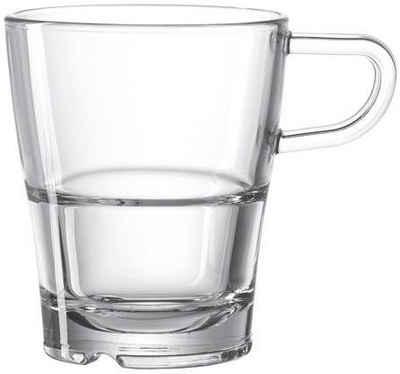 LEONARDO Tasse »SENSO«, Glas, Hitzebeständig und widerstandsfähig, 6-teilig