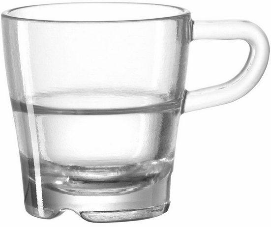 LEONARDO Espressotasse »SENSO« (6-tlg), Glas, Hitzebeständig und widerstandsfähig