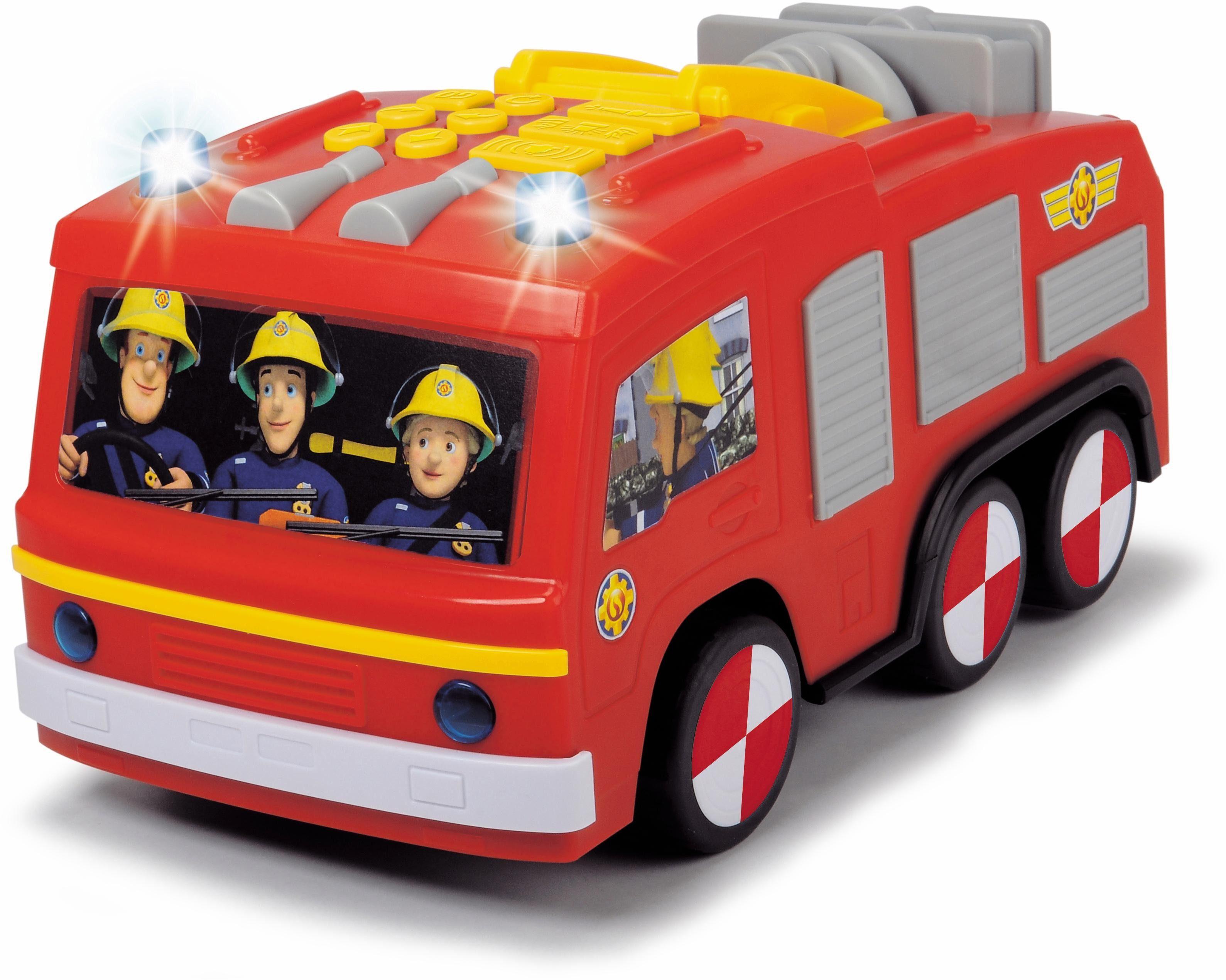 Dickie Toys Feuerwehrauto mit Licht und Sound, »Feuerwehrmann Sam Super Tech Jupiter«