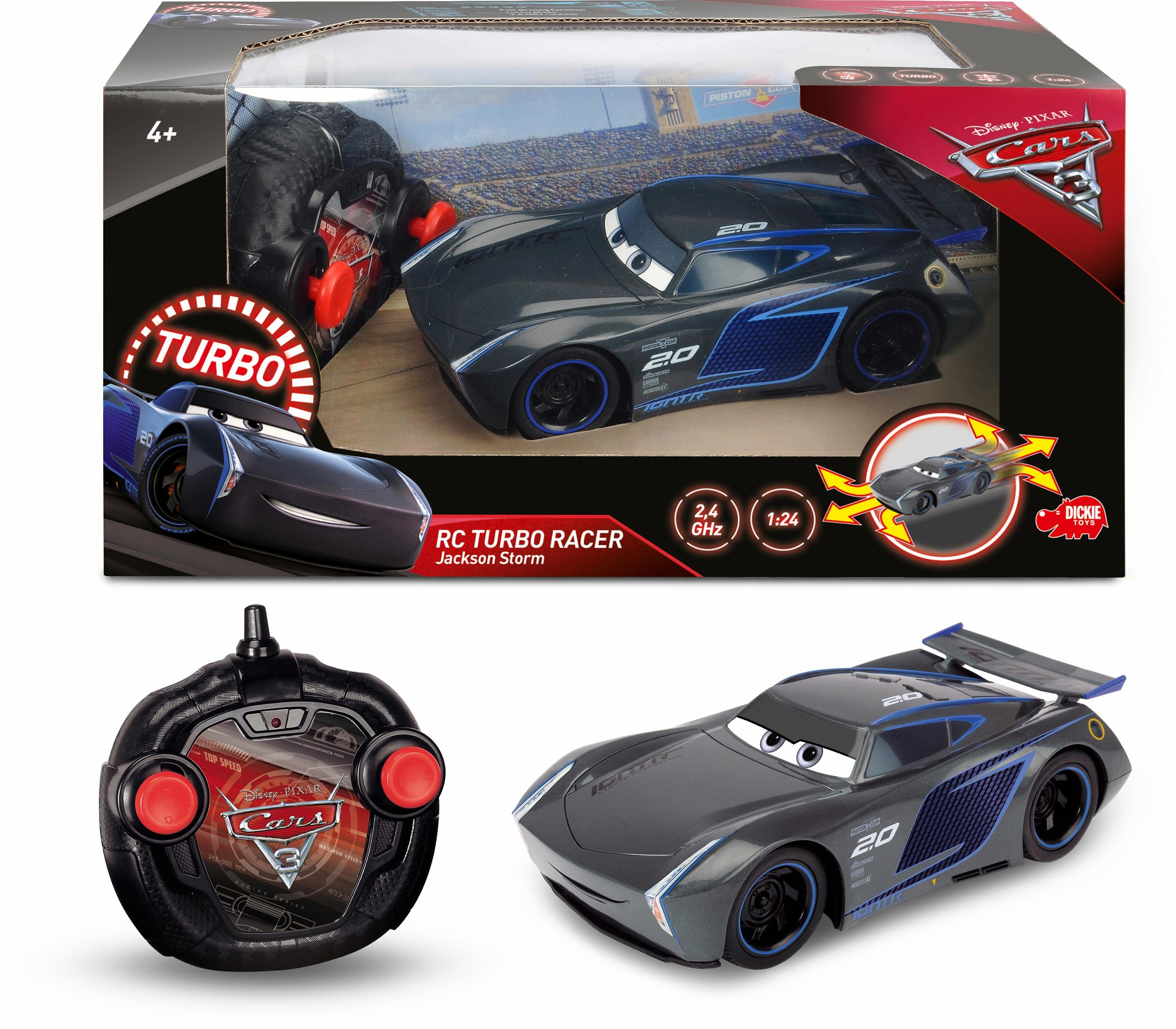 Dickie Toys RC Auto, »Disney Pixar Cars 3, Turbo Racer Jackson Storm«