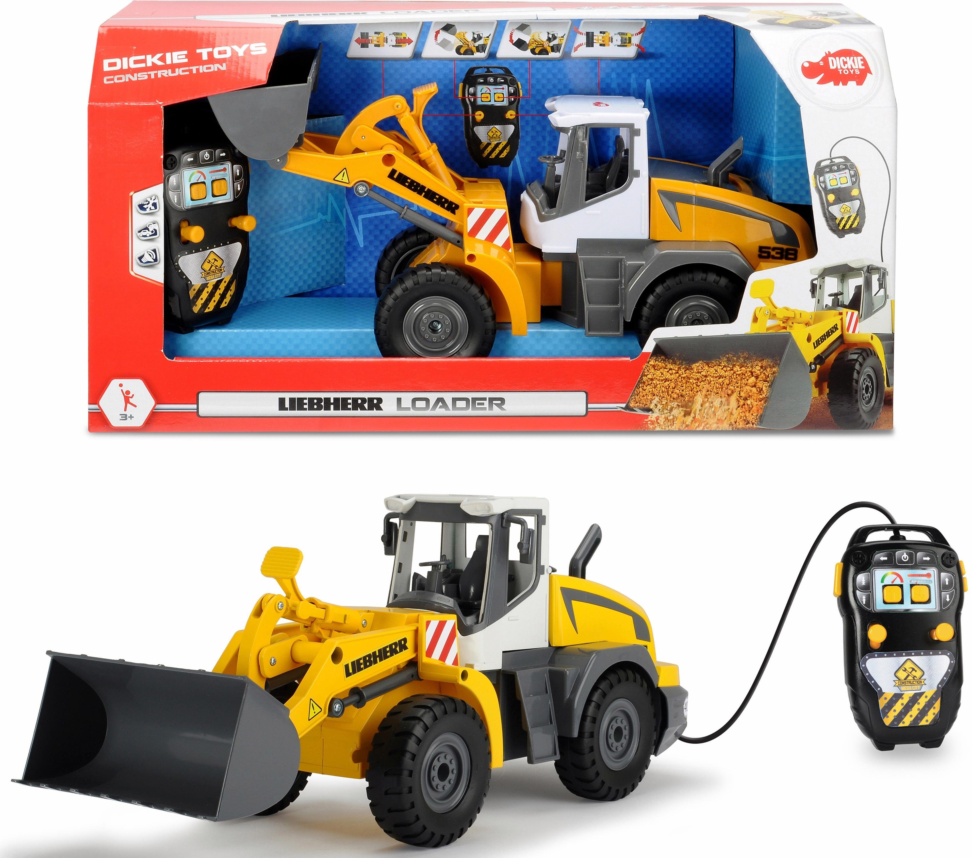 Dickie Toys Spielzeug Radlader motorisiert, »Liebherr Loader«