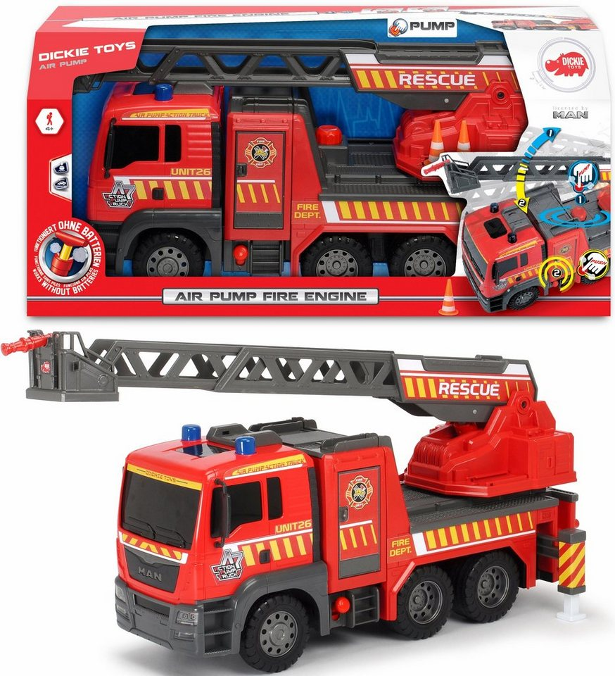 dickie toys spielzeug lkw feuerwehr air pump fire engine online kaufen otto. Black Bedroom Furniture Sets. Home Design Ideas