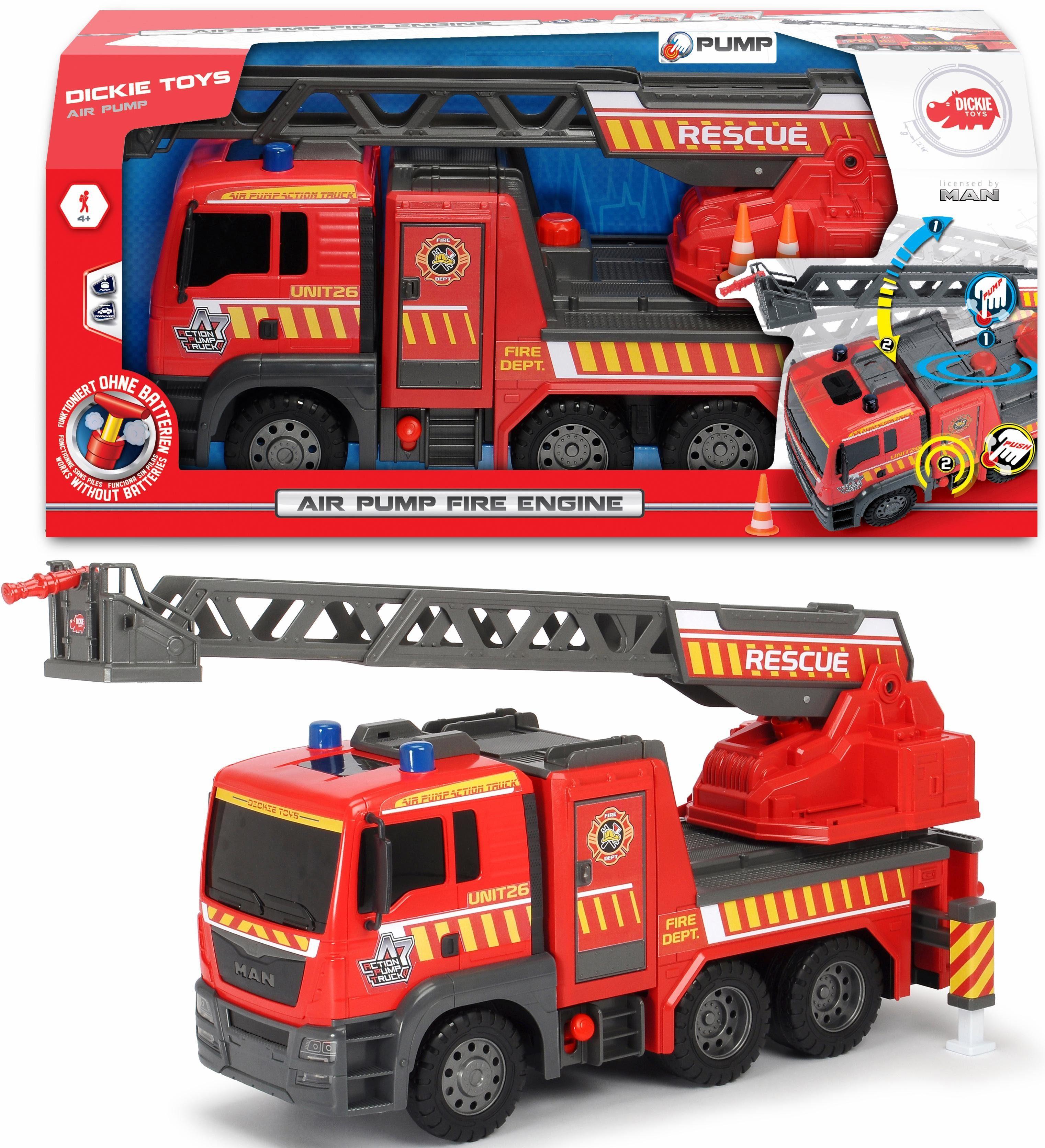 Dickie Toys Spielzeug LKW Feuerwehr, »Air Pump Fire Engine«