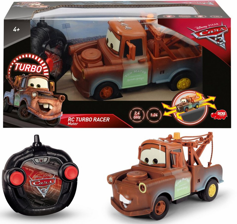 Dickie Toys RC Auto, »Disney Pixar Cars 3, Turbo Racer Mater Hook ...