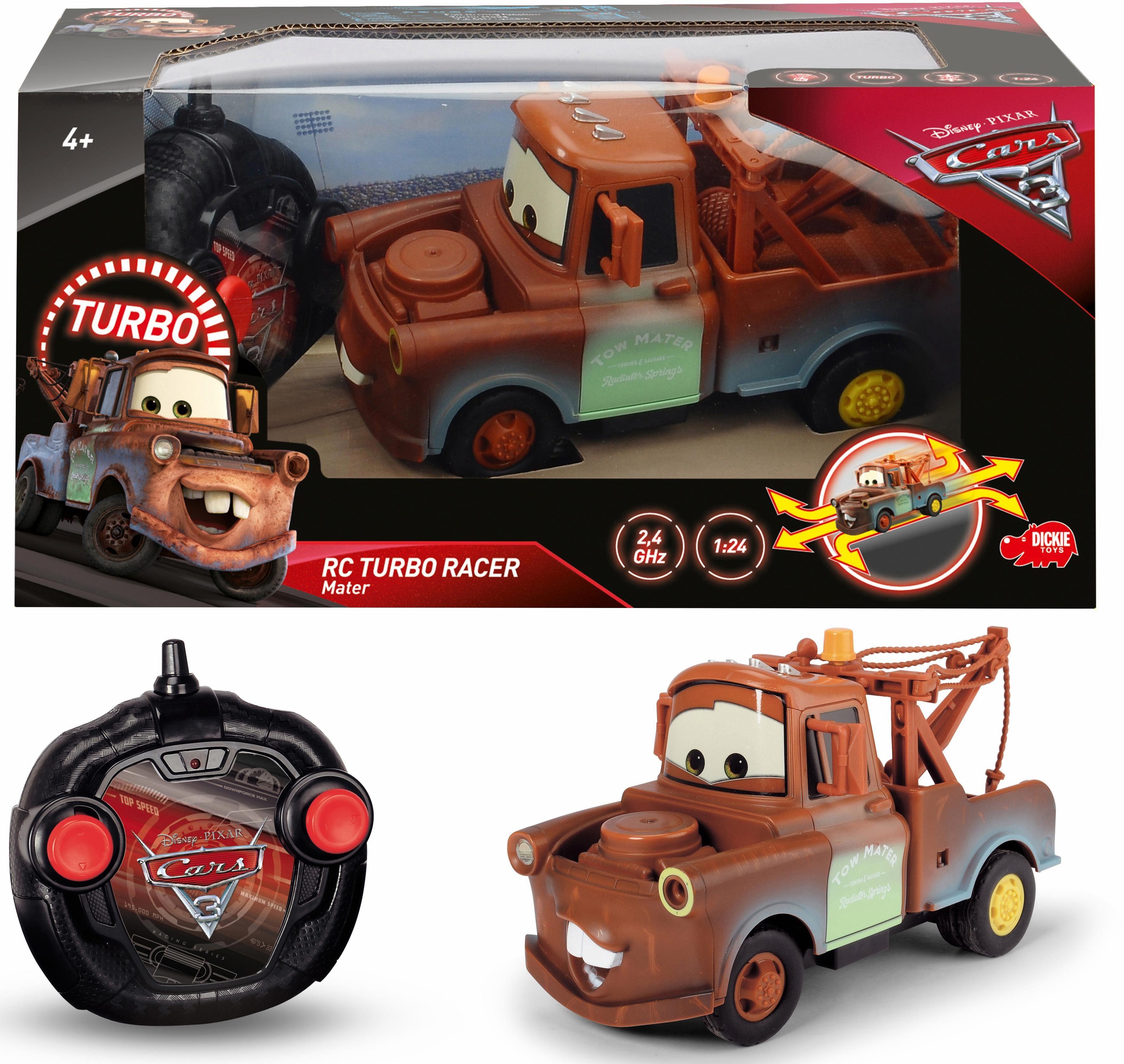 Dickie Toys RC Auto, »Disney Pixar Cars 3, Turbo Racer Mater Hook«