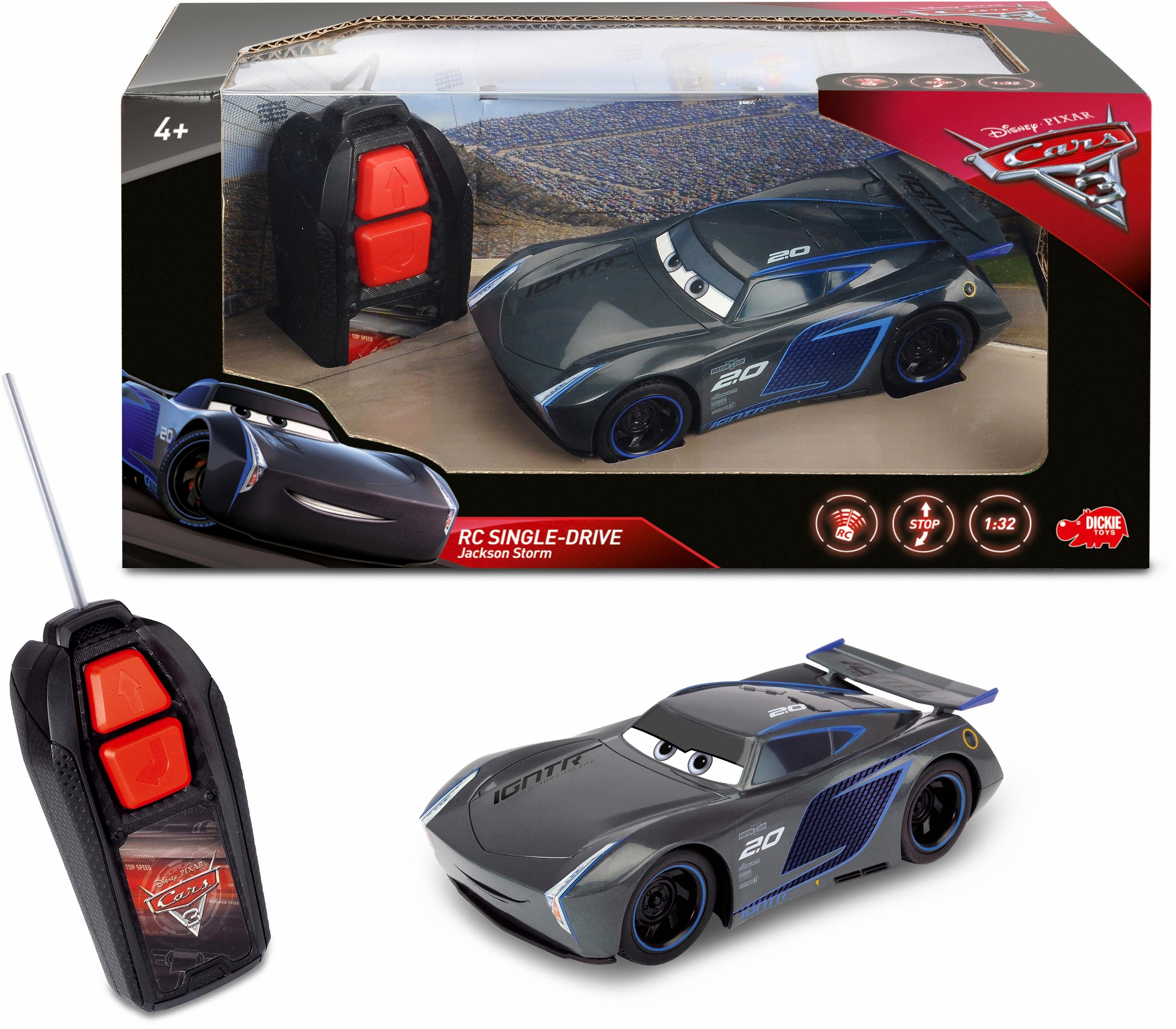 Dickie Toys RC Auto, »Disney Pixar Cars 3, Jackson Storm Single Drive«