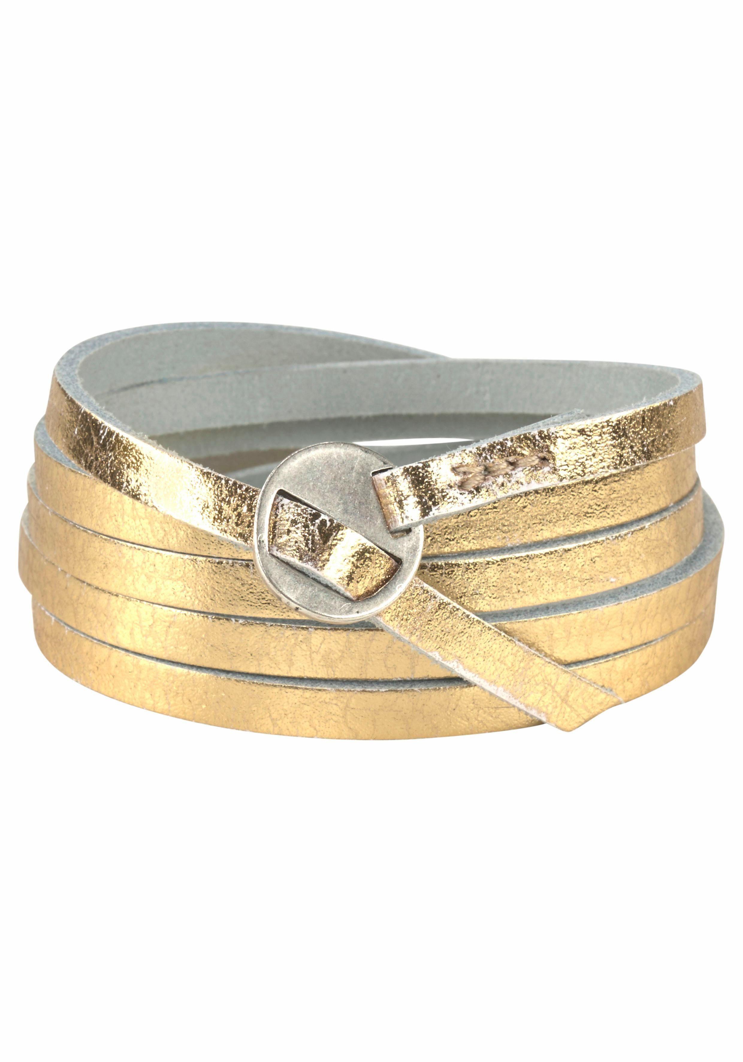 J.Jayz Armband, zum Wickeln im Metallic Look