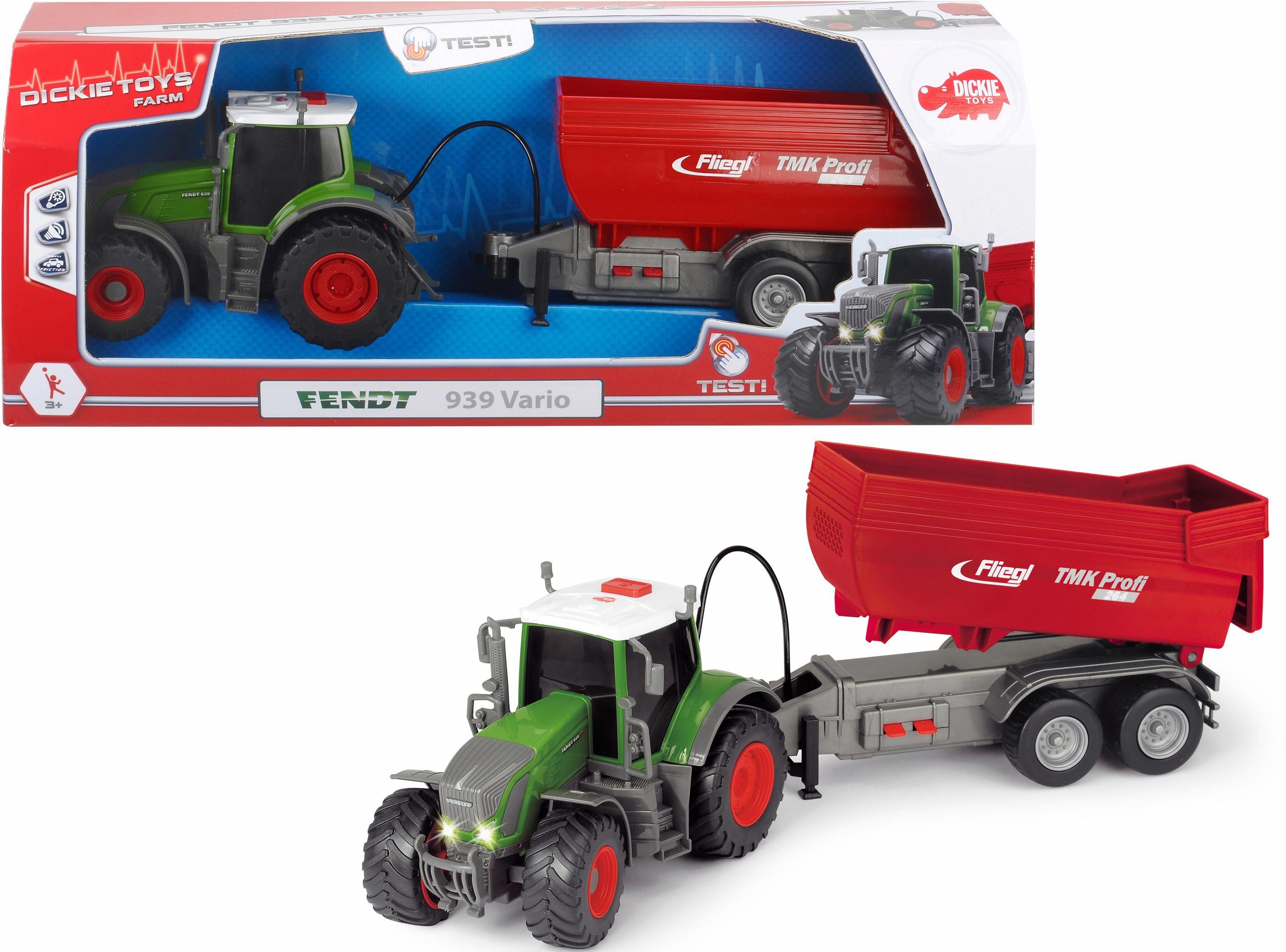 Dickie Toys Spielzeug Traktor mit Licht und Sound, »Fendt 939 Vario«