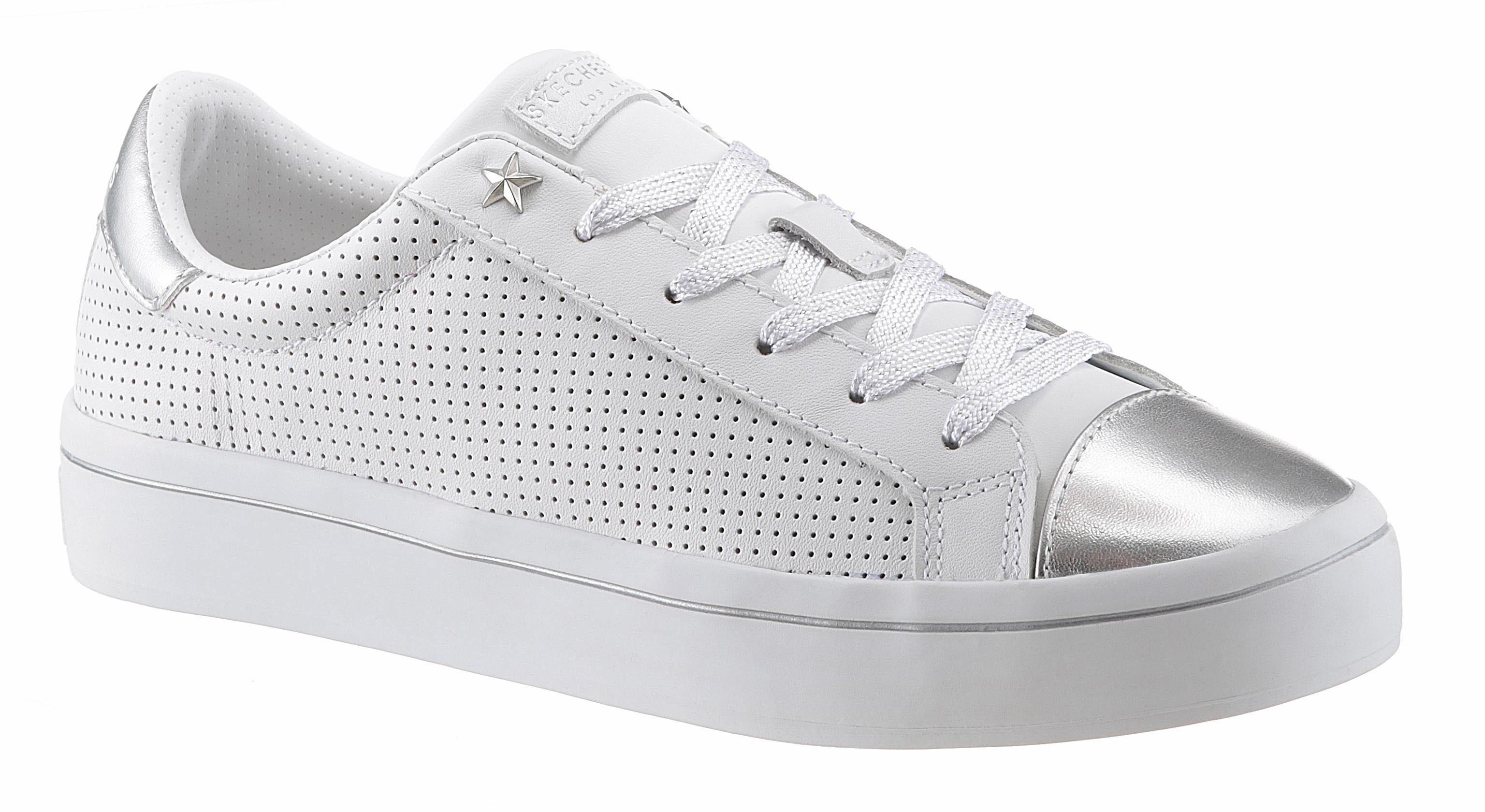 Skechers »Moda Dazzling Dancer« Sneaker, mit Schmucksteinen, weiß, weiß-silberfarben