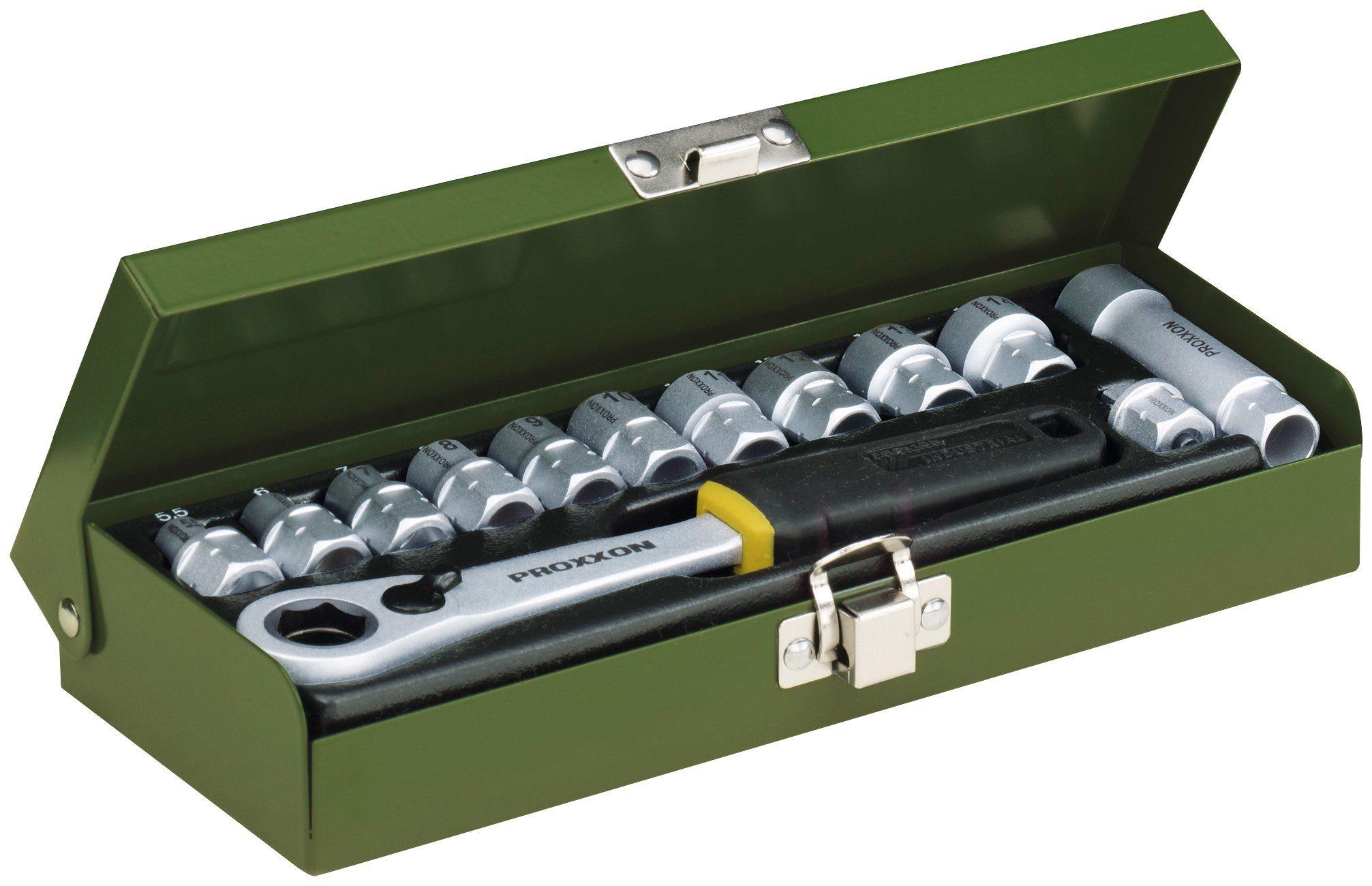 """PROXXON Ratschen-Set »Werkstatt-Spezialsatz, 5.5 bis 14 mm, 1/4""""«, (13-tlg.)"""
