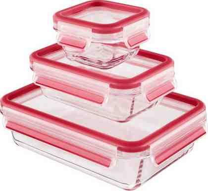 Frischhaltedose, Emsa, »CLIP & CLOSE«, 0,2 l, 0,5 l, 1,3 l (3 Stck.), Borosilikatglas