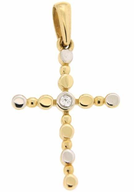 Firetti Kreuzanhänger »Kreuz« mit Zirkonia