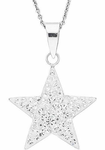 Firetti Kette mit Anhänger »Stern«, mit Kristallen