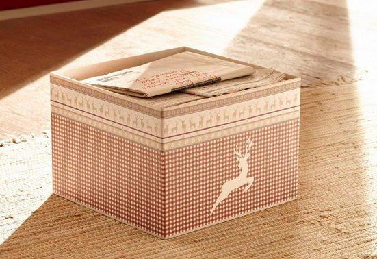 Home affaire Aufbewahrungsbox »Arosa«, auch im 2er-Set