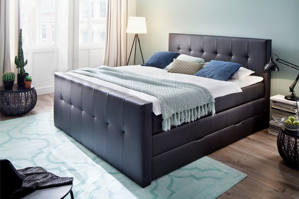 meise m bel boxspringbett mit bettkasten wahlweise veredelt mit swarovski kristallen online. Black Bedroom Furniture Sets. Home Design Ideas