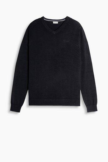 ESPRIT Feinstrick-Pullover aus 100% Baumwolle