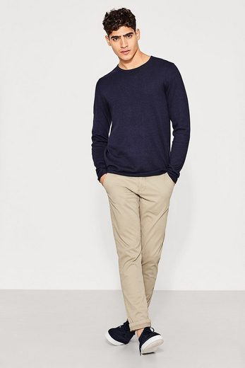 Edc By Esprit Fine Trick-sweater Of Cotton