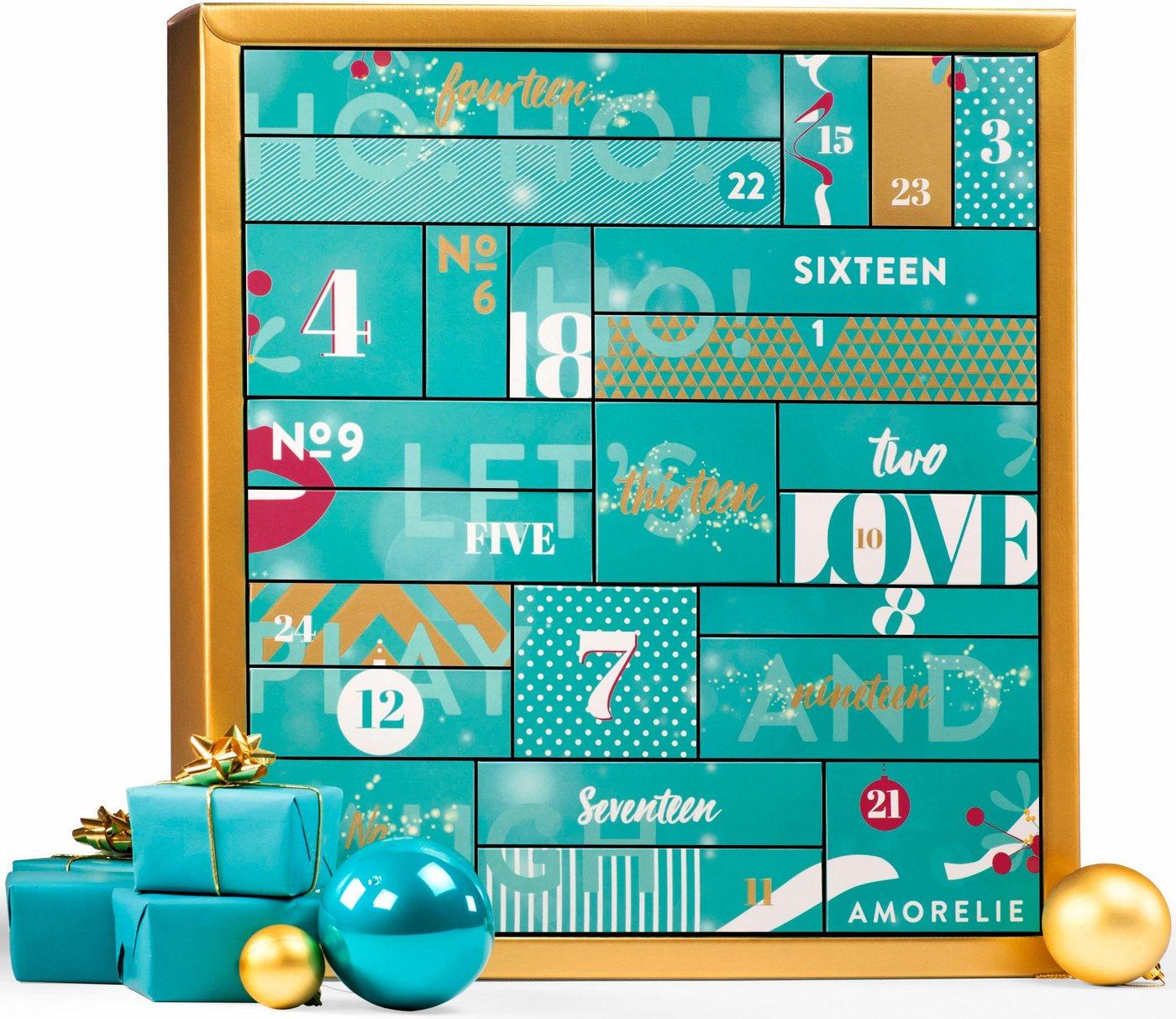 Amorelie Adventskalender Classic, Erotik-Kalender, 24 sinnliche Produkte