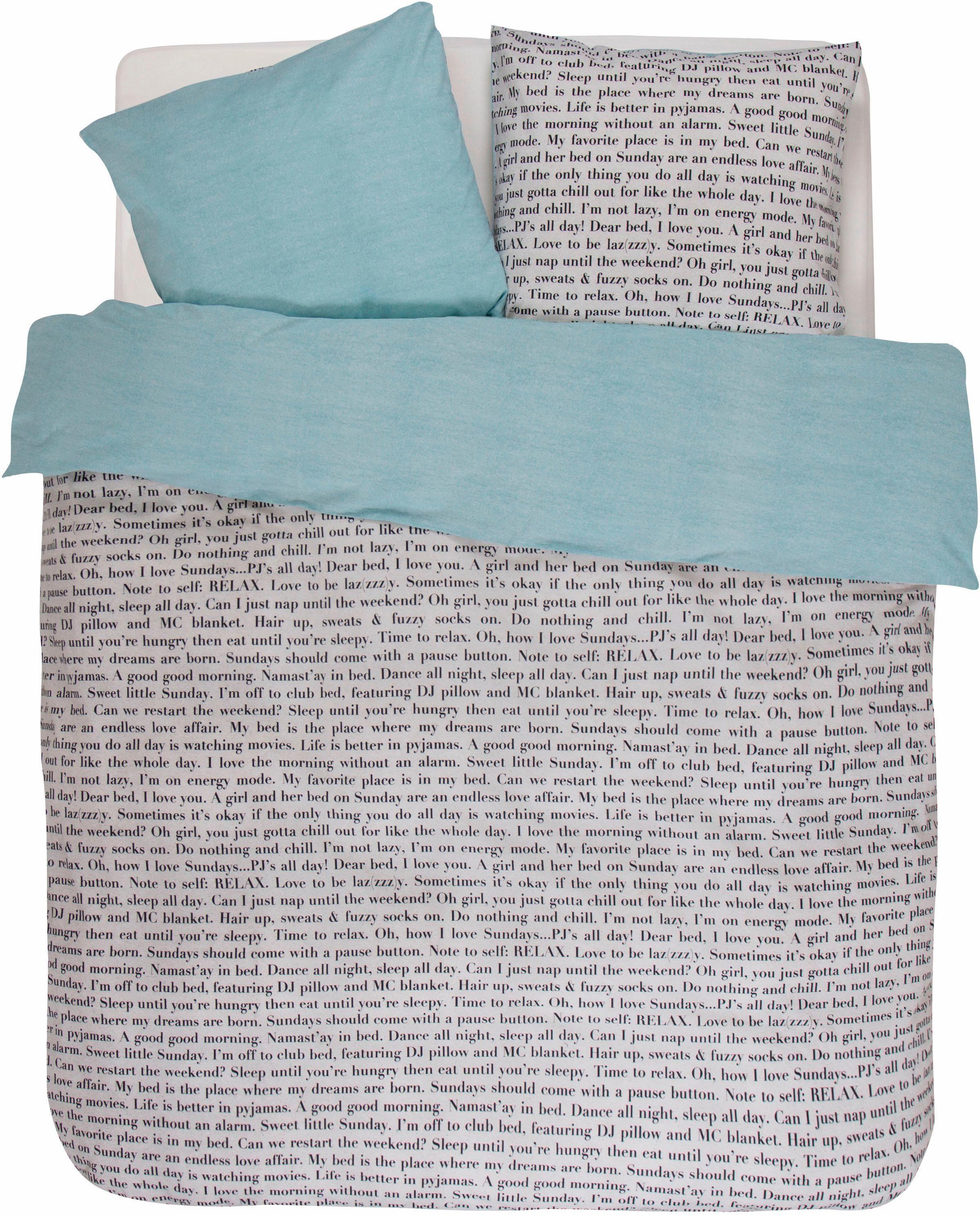 Jugendbettwäsche, Covers & Co., »Club Bed«, mit Schriftzügen