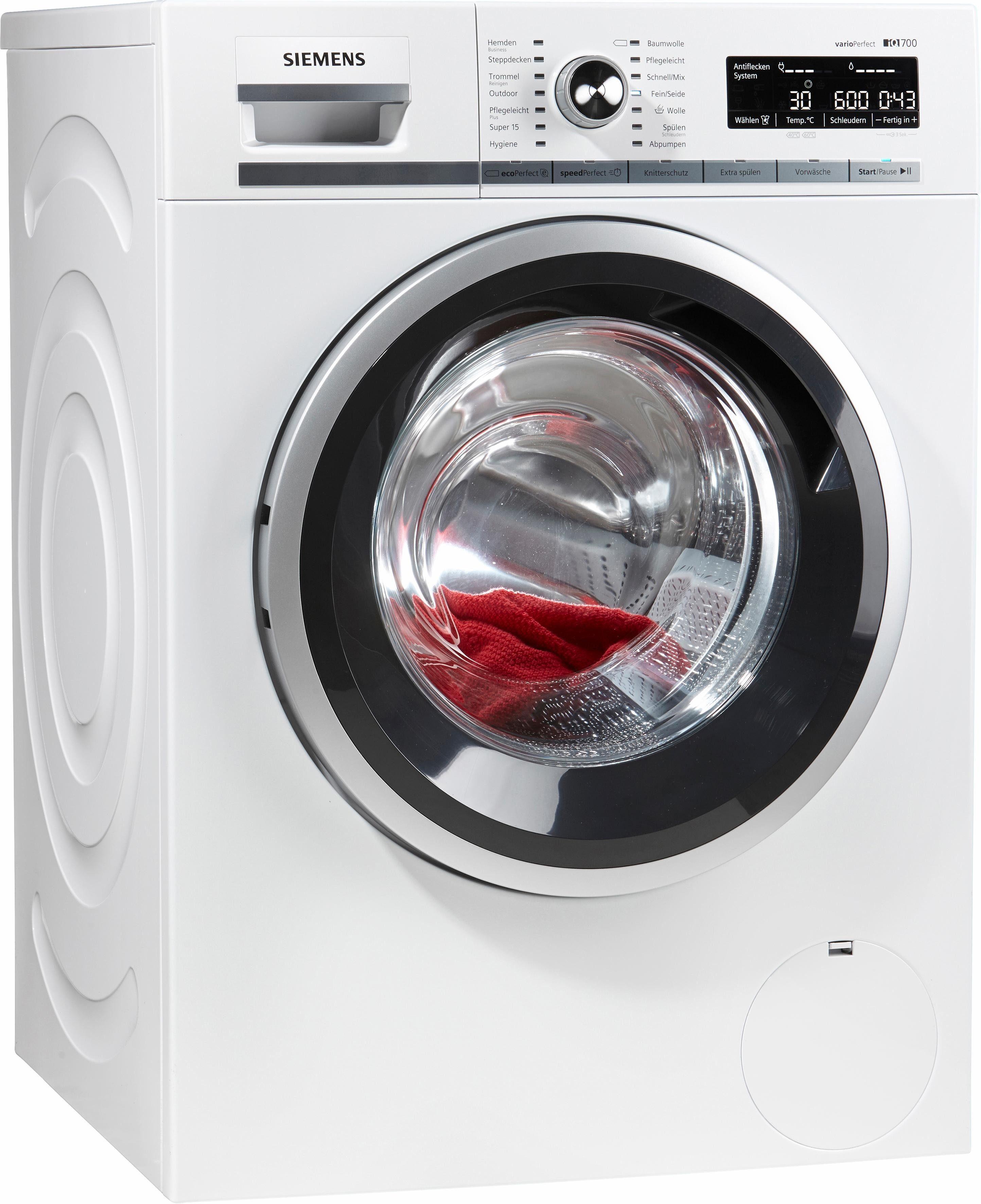 SIEMENS Waschmaschine iQ700 WM14W5V1, 9 kg, 1400 U/Min